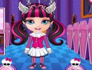 Bebek Barbie Monster High Kızı Oluyor